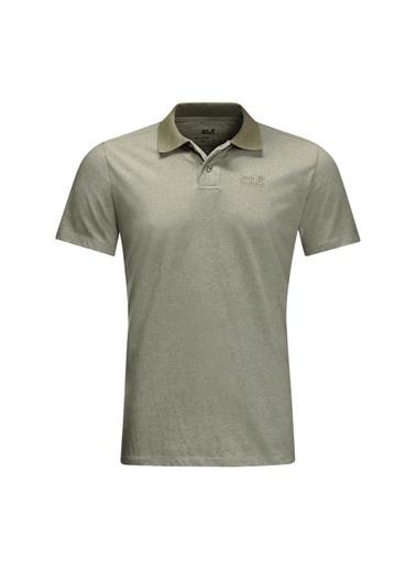 Jack Wolfskin Jack Wolfskin 5022181-4288 Pokut M Polo T-Shirt Haki